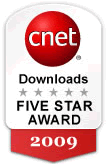 CNet download.com awards JobTabs Job Search and Resume five stars.