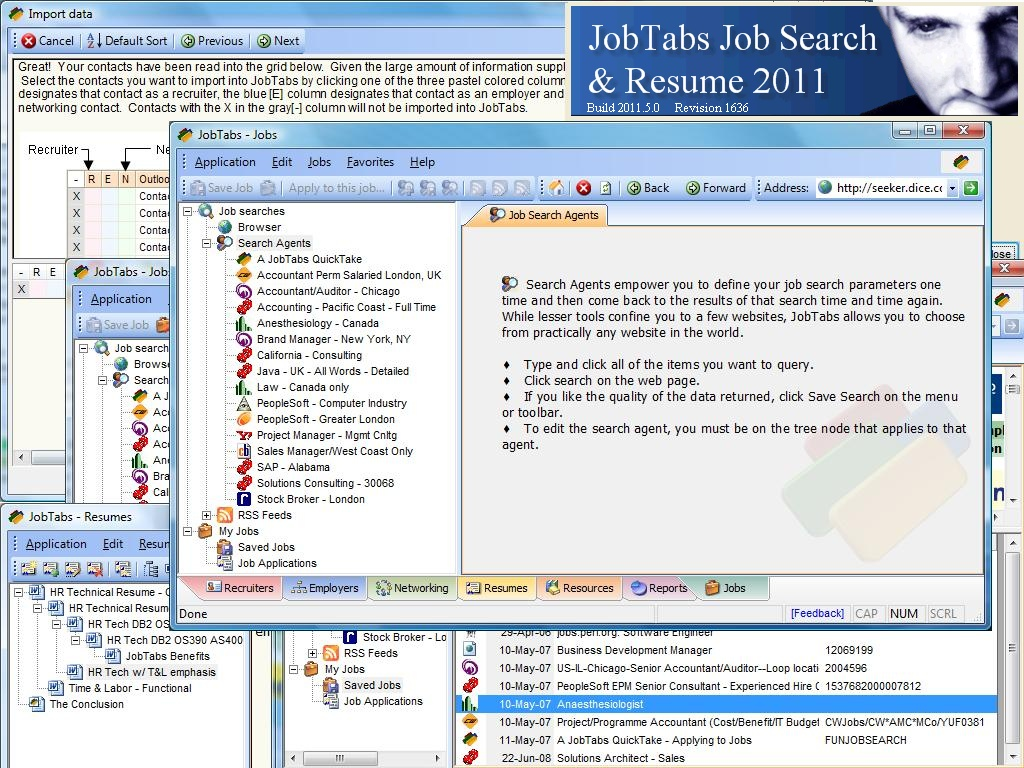Click to view JobTabs Job Search and Resume 2011 5.0.0.1630 screenshot