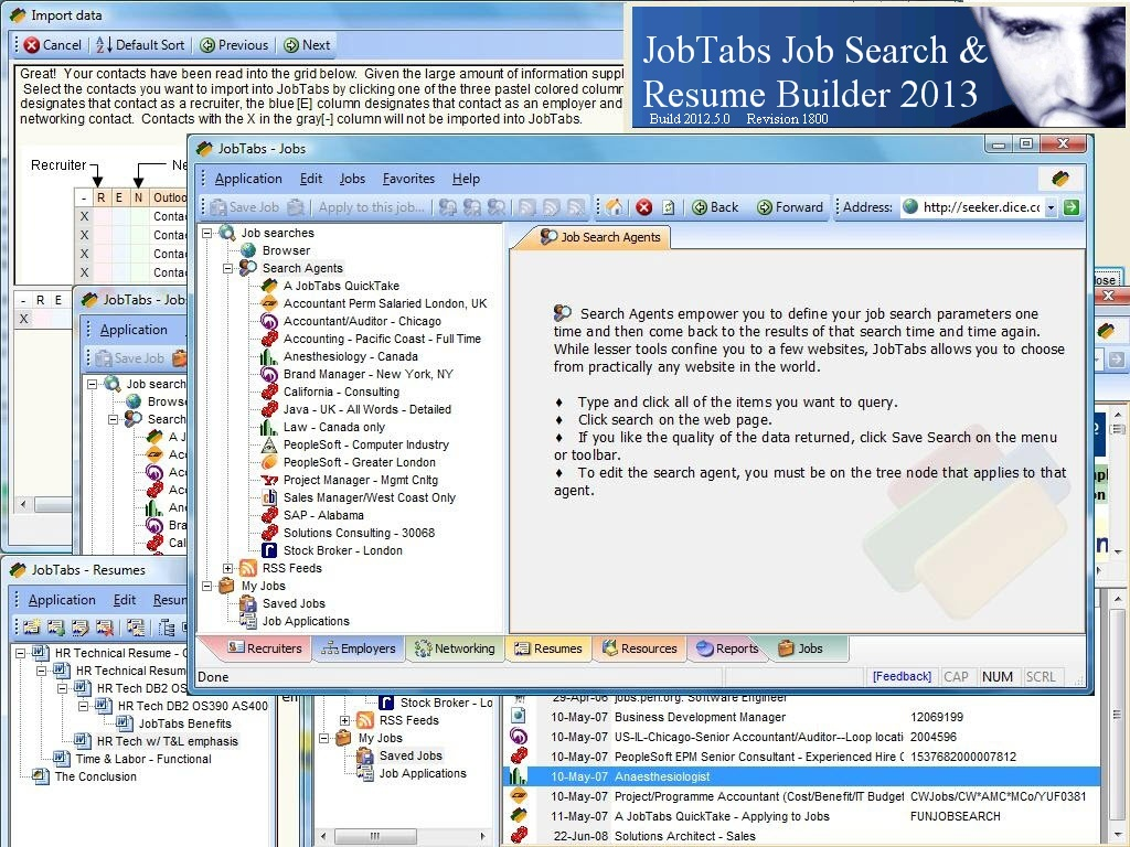 Click to view JobTabs Job Search and Resume Builder 5.0.0.1858 screenshot